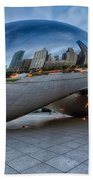 Chicago - Cloudgate Reflections Beach Towel