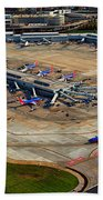 Chicago Airplanes 03 Beach Towel