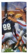 Chicago Bears P Patrick O'donnell Training Camp 2014 Photo Art 02 Beach Towel