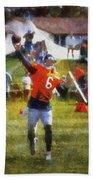 Chicago Bears Qb Jay Cutler Training Camp 2014 04 Photo Art 02 Beach Towel