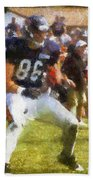 Chicago Bears Te Zach Miller Training Camp 2014 Pa 02 Beach Towel