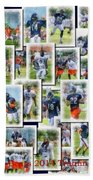 Chicago Bears Training Camp 2014 Collage Pa 01 Beach Towel