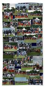 Chicago Bears Training Camp 2014 Collage The Players Beach Towel