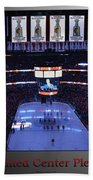 Chicago Blackhawks Please Stand Up With Red Text Sb Beach Towel
