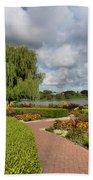 Chicago Botanical Gardens - 97 Beach Towel by Ely Arsha