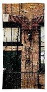 Chicago Brick Facade Grunge Beach Towel