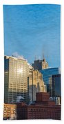 Chicago Cityscape During The Day Beach Towel