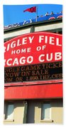 Chicago Cubs Marquee Sign Beach Towel