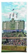 Chicago Cubs Scoreboard 01 Beach Towel