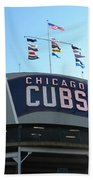 Chicago Cubs Signage Beach Towel