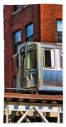 Chicago El And Warehouse Beach Towel
