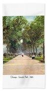 Chicago - Lincoln Park - 1910 Beach Towel