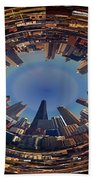 Chicago Looking East Polar View Beach Towel by Thomas Woolworth