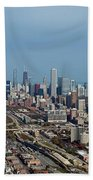 Chicago Looking North 01 Beach Towel