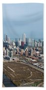 Chicago Looking North 02 Beach Towel