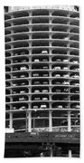 Chicago Marina City Parking Bw Beach Towel