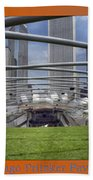 Chicago Pritzker Music Pavillion Triptych 3 Panel Beach Towel