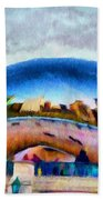 Chicago Reflected Beach Towel by Jeff Kolker