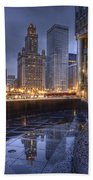 Chicago Reflected Beach Towel