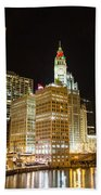 Chicago River Beach Towel