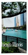 Chicago River Front Beach Towel