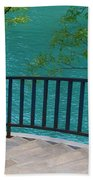 Chicago River Green Beach Towel