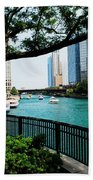 Chicago River Scene Beach Towel