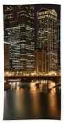 Chicago River Beach Towel