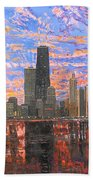 Chicago Skyline - Lake Michigan Beach Towel