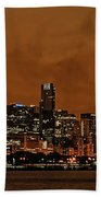 Chicago Skyline Panorama At Dusk Beach Sheet