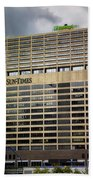 Chicago Sun Times Facade After The Storm Beach Towel