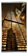 Chicago Tall Shoulders Trump Sears 333 W Wacker Triptych 3 Panel 01 Beach Towel