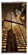 Chicago Tall Shoulders Trump Sears Tribune Triptych 3 Panel 01 Beach Towel