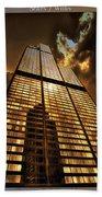Chicago Tall Shoulders Trump Sears Tribune Triptych 3 Panel 02 Beach Towel