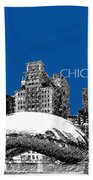 Chicago The Bean - Royal Blue Beach Towel