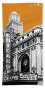 Chicago Theater - Dark Orange Beach Towel