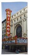 Chicago Theater Facade Southside Beach Towel