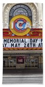 Chicago Theater Signage Beach Towel