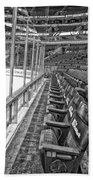 Chicago United Center Before The Gates Open Blackhawk Seat One Bw Hdr Beach Towel