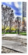 Chicago's Jane Addams Memorial Park From The Series The Imprint Of Man In Nature Beach Towel