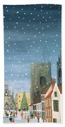 Chichester Cathedral A Snow Scene Beach Towel