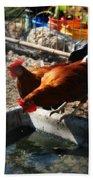 Chicken A La Carte Beach Towel