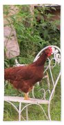 Chicken In The Chair Beach Towel