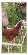 Chicken In The Chair Beach Sheet
