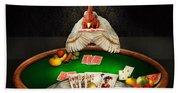 Chicken - Playing Chicken Beach Towel