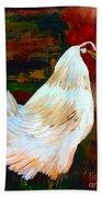 Chicken--yard Bird Impression Beach Towel