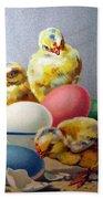 Chicks And Eggs Beach Towel