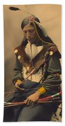 Chief Bone Necklace Of The Lakota 1899 Beach Towel