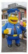 Chief Clancy Wiggum From The Simpsons Beach Sheet