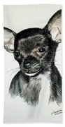 Chihuahua Black 2 Beach Towel